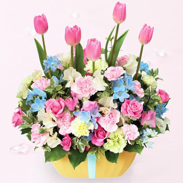 【2月の誕生花(チューリップ等)】チューリップのガーデンアレンジメント