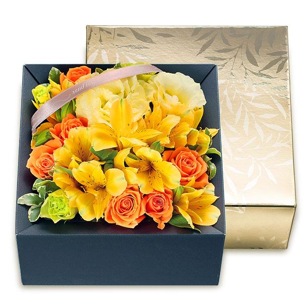 【4月の誕生花(アルストロメリア等)】アルストロメリアのボックスフラワー