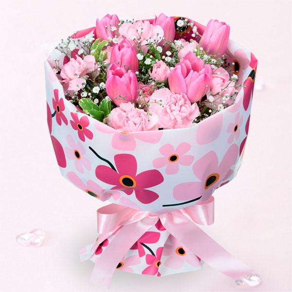 【予算で選ぶ  3000円から】チューリップの花キューピットブーケ(フラワー)