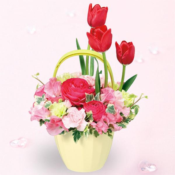 【2月の誕生花(チューリップ等)】春のガーデンアレンジメント
