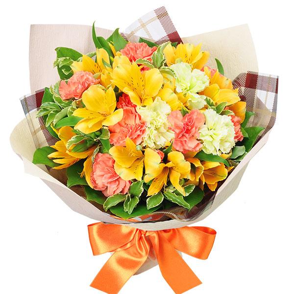 【誕生日フラワーギフト】花キューピットブーケ(チェック)