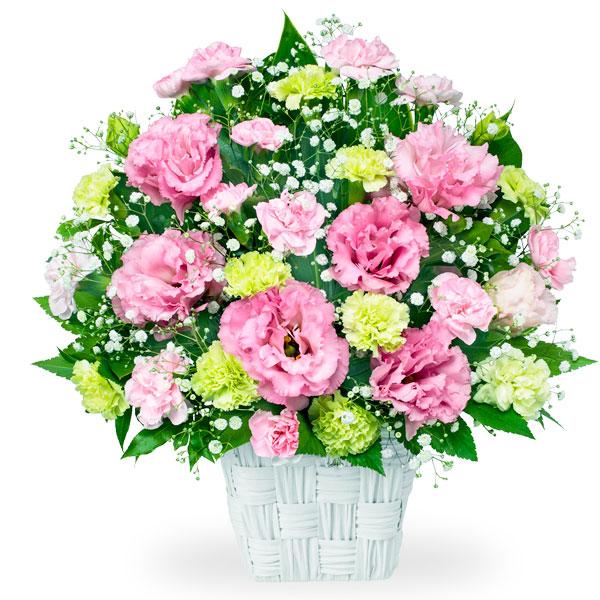 【お見舞い】トルコキキョウのピンクアレンジメント