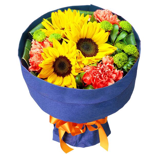 【7月の誕生花(ひまわり等)】ひまわりの花キューピットブーケ