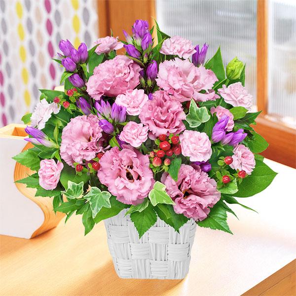 【敬老の日】リンドウとトルコキキョウのアレンジメント 511884 |花キューピットの敬老の日プレゼント特集2019
