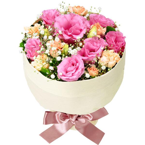 【ご出産祝い(法人)】トルコキキョウの花キューピットブーケ