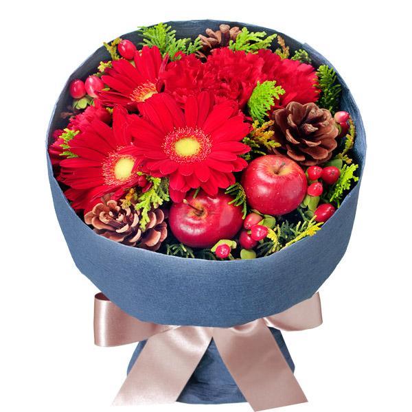 【冬の花贈り特集】赤ガーベラのウィンターブーケ 511905 |花キューピットの2019冬の花贈り特集特集