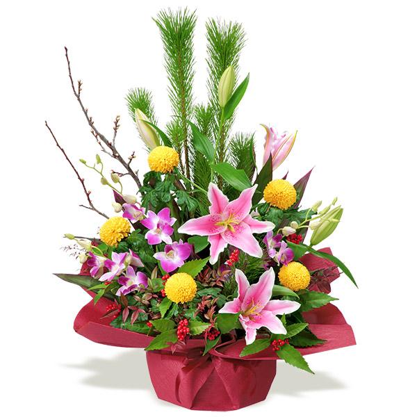 【お正月フラワーギフト】お正月のアレンジメント 511909 |花キューピットの2021お正月フラワーギフト特集