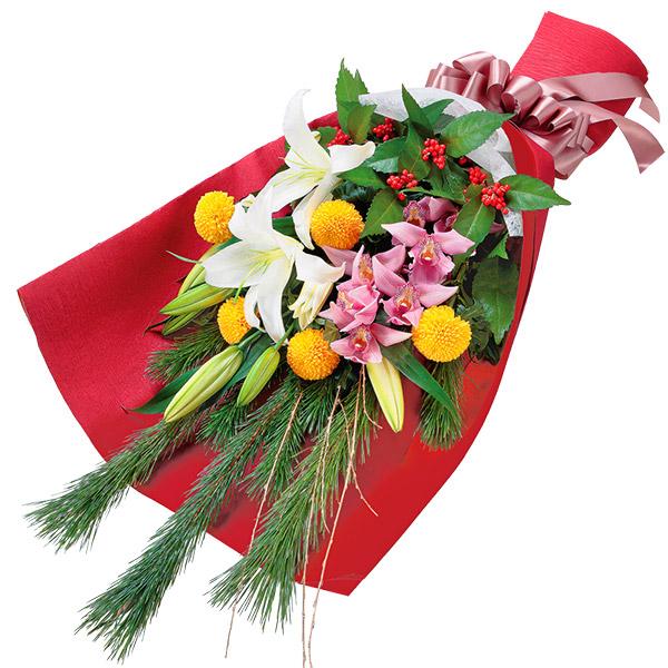 【お正月フラワーギフト】お正月の花束 511910 |花キューピットの2021お正月フラワーギフト特集