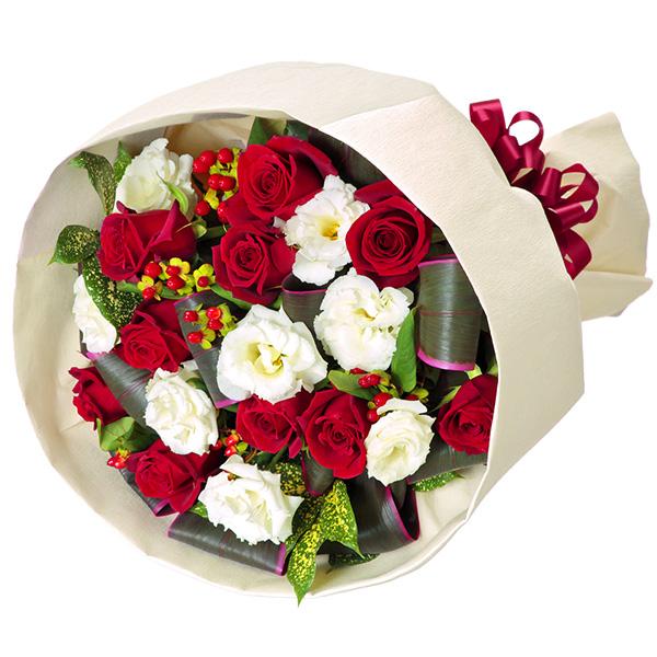 【12月の誕生花(赤バラ等)】赤バラとトルコキキョウのブーケ