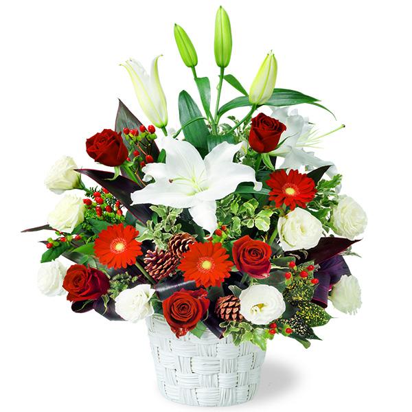 【冬の花贈り特集】ユリのウィンターアレンジメント 511922 |花キューピットの2019冬の花贈り特集特集
