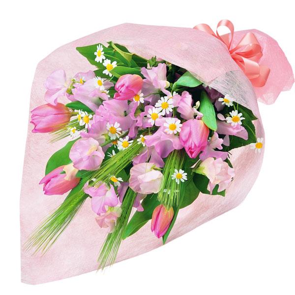 【チューリップ特集】春のふんわり花束 511928 |花キューピットの2019チューリップ特集特集