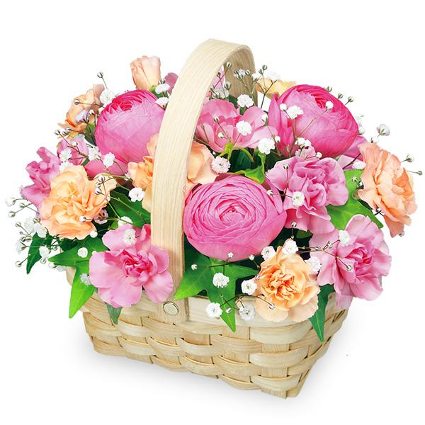 【春の誕生日】ラナンキュラスのバスケット 511929 |花キューピットの2020春の誕生日特集
