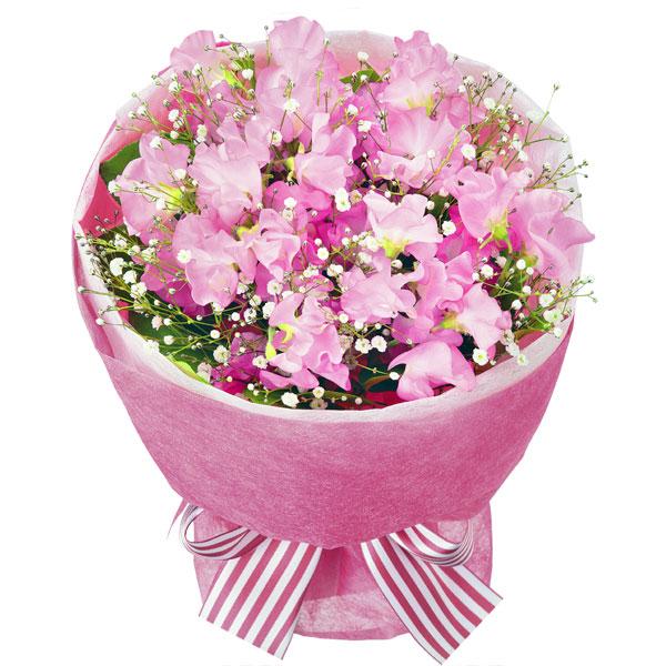 【1月の誕生花(スイートピー等)】スイートピーのピンクブーケ
