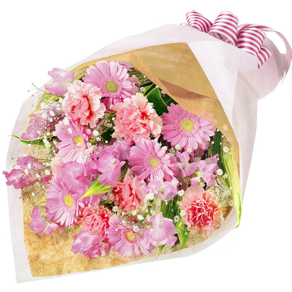 【1月の誕生花(スイートピー等)】ガーベラとスイートピーの花束(ピンク)