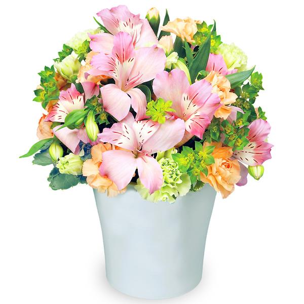 【4月の誕生花(アルストロメリア等)】アルストロメリアのエレガントアレンジメント