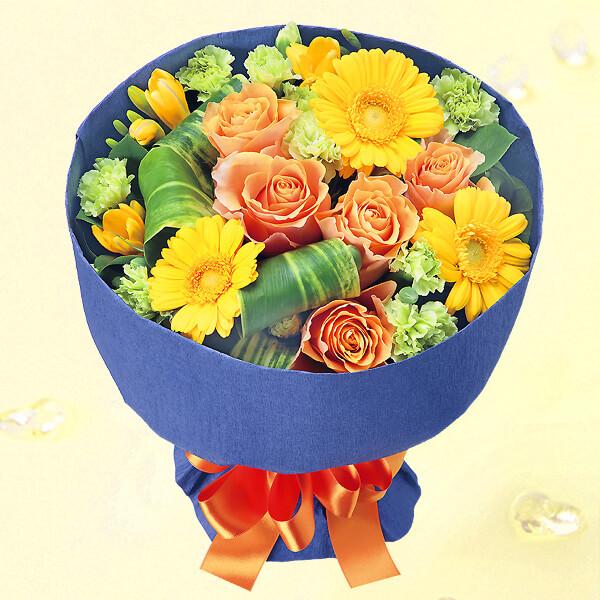 【花束(法人)】バラとガーベラのブーケ(イエロー)