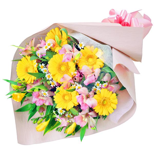 【4月の誕生花(アルストロメリア等)】ガーベラとアルストロメリアの花束
