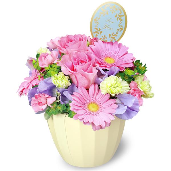 【3月の誕生花(ピンクガーベラ等)】バラとガーベラのアレンジメント