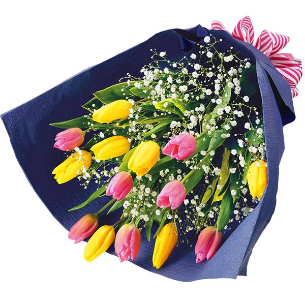 【誕生花 2月(チューリップ等)(法人)】チューリップのミックスカラー花束