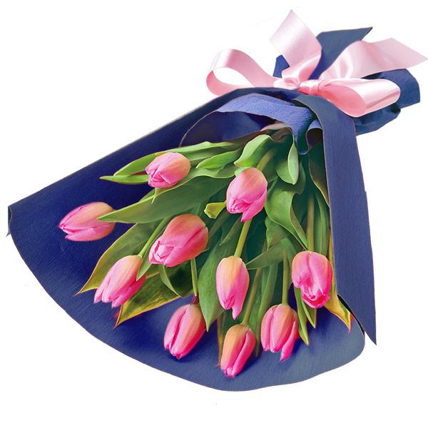 【2月の誕生花(チューリップ等)】ピンクチューリップの花束