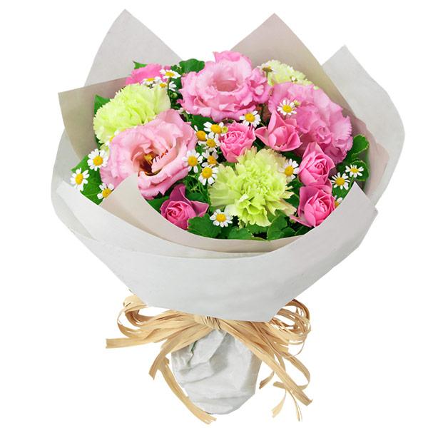 【誕生日フラワーギフト】バラとトルコキキョウのナチュラルブーケ