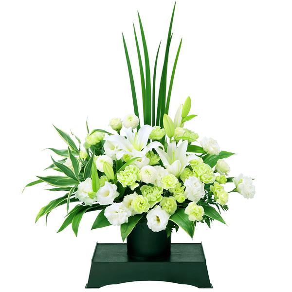 【通夜・葬儀に贈る献花】お供えのアレンジメント(供花台(小)付き)