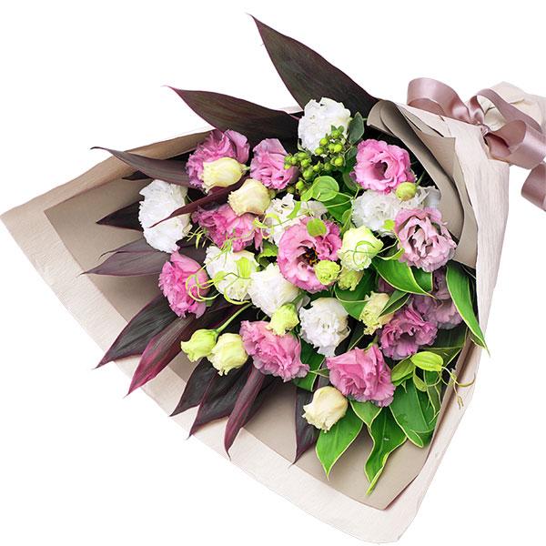 【8月の誕生花(トルコキキョウ等)】2色トルコキキョウの花束