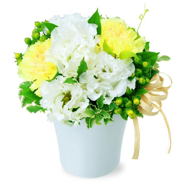 【夏の花贈り特集】トルコキキョウのナチュラルアレンジメント 511996 |花キューピットの夏の花贈り特集2020