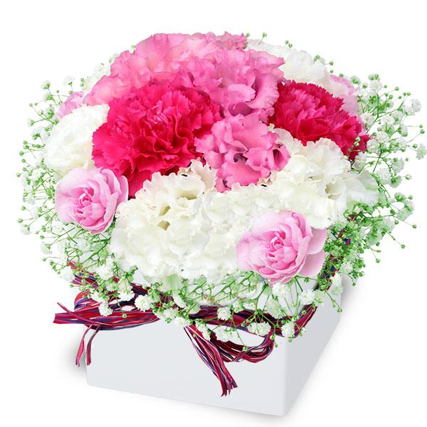 【結婚記念日】トルコキキョウのロマンチックキューブ