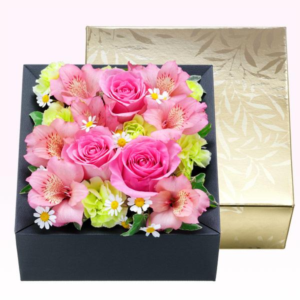 【4月の誕生花(アルストロメリア等)】アルストロメリアのフラワーボックス
