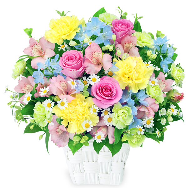 【卒業・入学祝い】アルストロメリアの春色アレンジメント 512019 |花キューピットの卒業・入学祝い