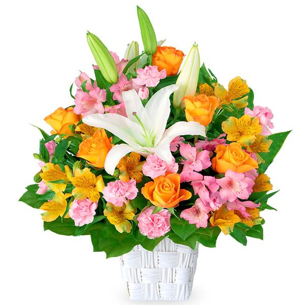 【4月の誕生花(アルストロメリア等)】ユリとアルストロメリアのアレンジメント