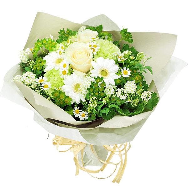 【結婚記念日】白バラのナチュラルブーケ