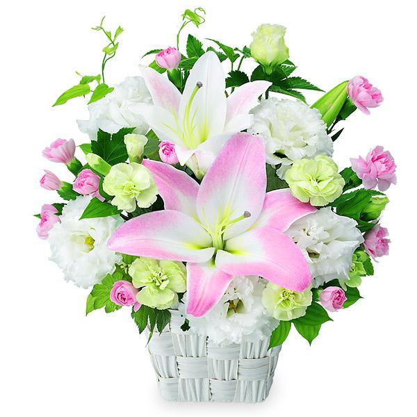 【誕生日フラワーギフト】ピンクユリのキュートアレンジメント
