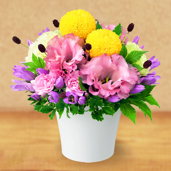 【秋の花贈り】お月見風アレンジメント 512028 |花キューピットの2019秋のお祝いプレゼント特集