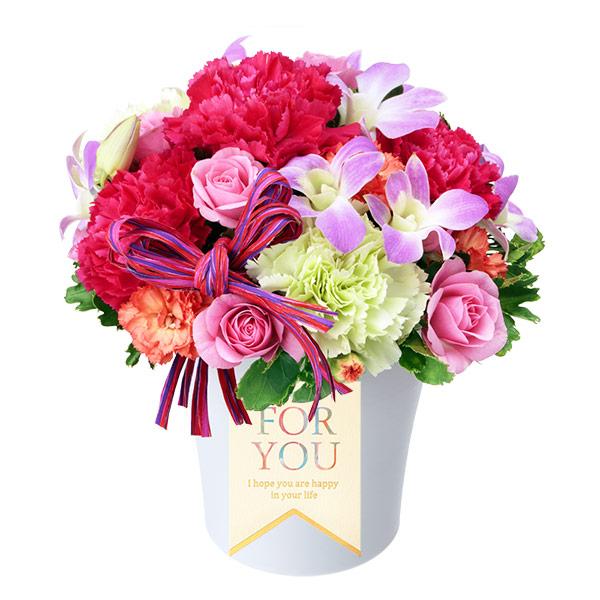 【9月の誕生花(デンファレ等)】デンファレの鮮やかアレンジメント
