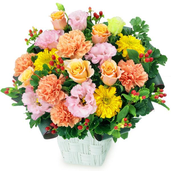 【アレンジメント】オレンジバラとトルコキキョウのアレンジメント
