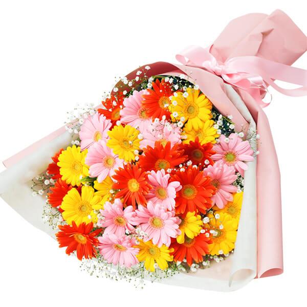 【いい夫婦の日】カラフルなガーベラの花束 512044 |花キューピットの2019いい夫婦の日特集