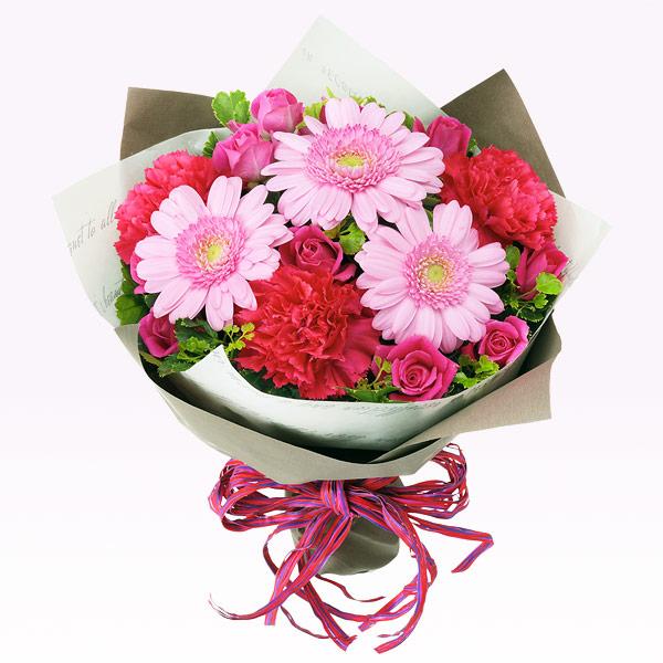 【いい夫婦の日】ピンクガーベラのキュートブーケ 512050 |花キューピットの2019いい夫婦の日特集