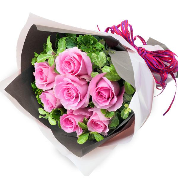 【結婚記念日】ピンクバラ7本の花束
