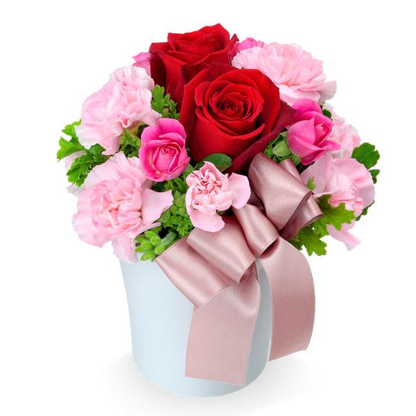 【誕生日フラワーギフト】赤バラのナチュラルアレンジメント
