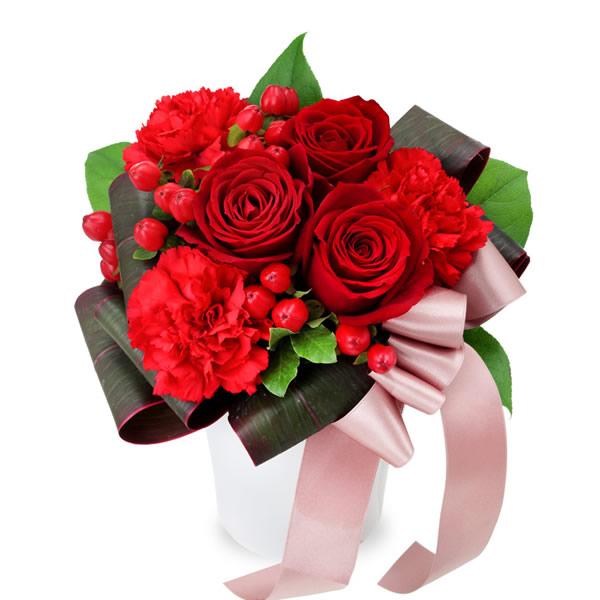 【ホワイトデー】赤バラのエレガントアレンジメント 512058 |花キューピットのホワイトデー