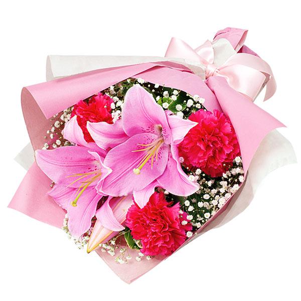 【花束(法人)】ピンクユリのブーケ