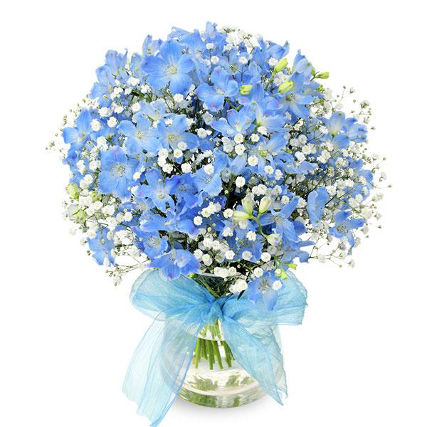 【結婚祝】サムシングブルーのグラスブーケ