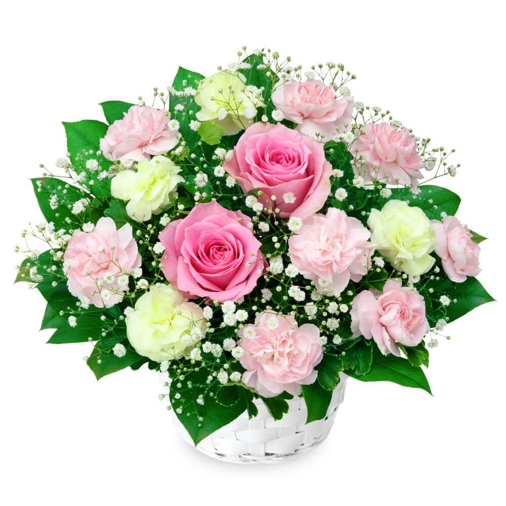 【結婚記念日】ピンクバラのアレンジメント
