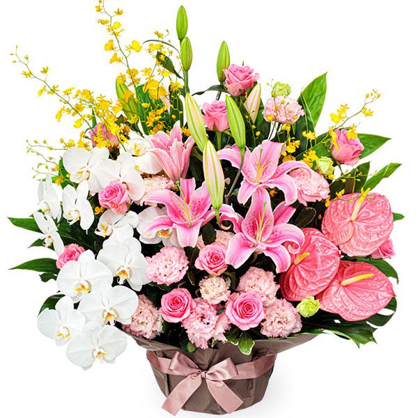 【お祝い(法人)】ピンクとホワイトの豪華なアレンジメント