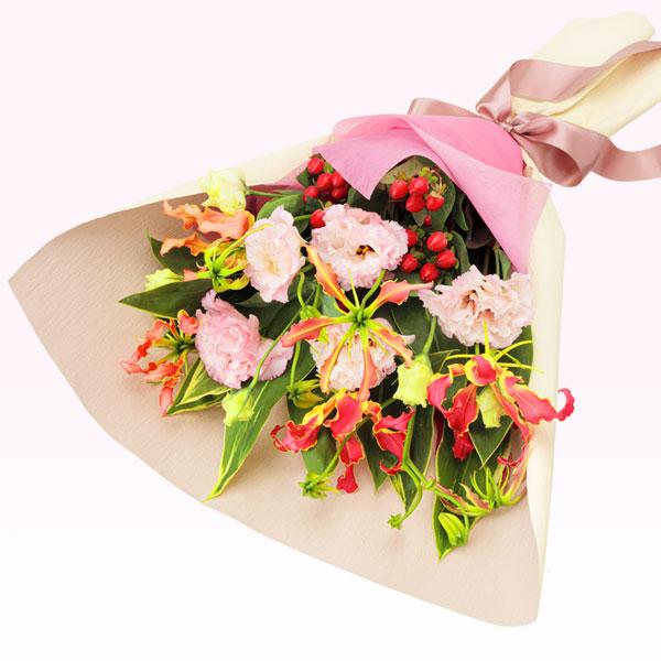 【ご退職祝い(法人)】トルコキキョウとグロリオサの花束