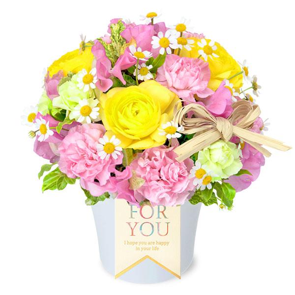 【フラワーバレンタイン】ラナンキュラスとスイートピーのナチュラルアレンジメント 512144 |花キューピットの2019フラワーバレンタイン特集特集