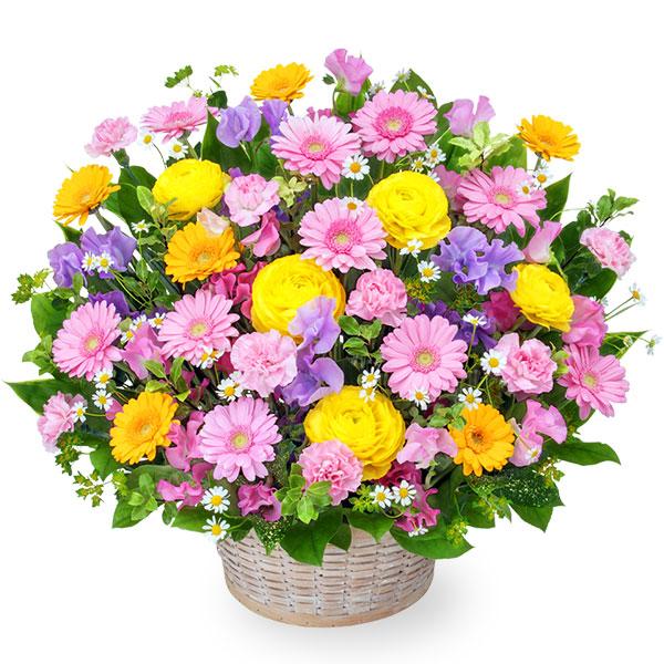 【1月の誕生花(スイートピー等)】春のカラフルアレンジメント