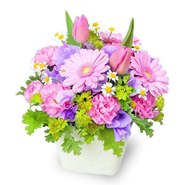 【2月の誕生花(チューリップ等)】春のガーデンアレンジメント(ピンク)